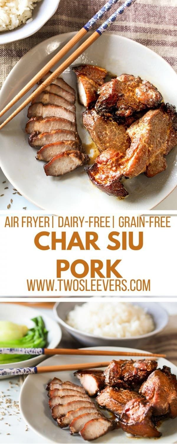 Char Siu Pork | Cantonese Pork | Char Siu Pork Recipe | Air Fryer Pork Recipe | Air Fryer Recipe | Air Fryer Cantonese | Two Sleevers #airfryerrecipe #charsiupork via @twosleevers