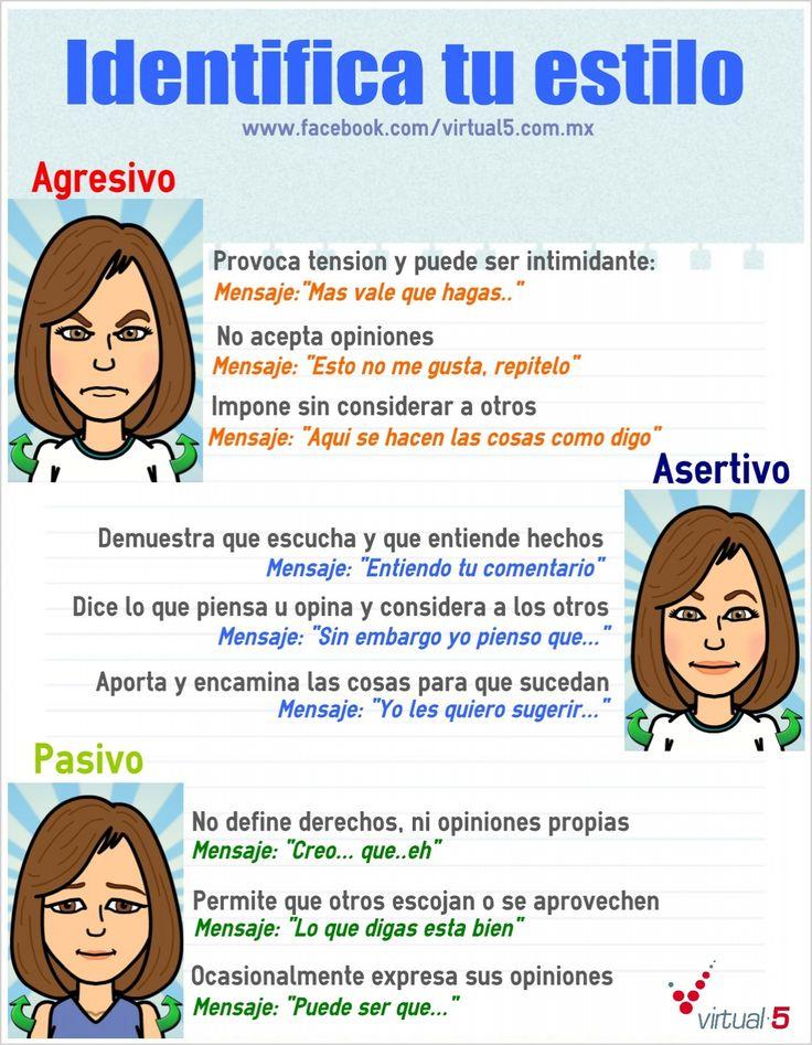 Identifica tu estilo #asertividad  Ven a vernos a  http://psicopedia.org