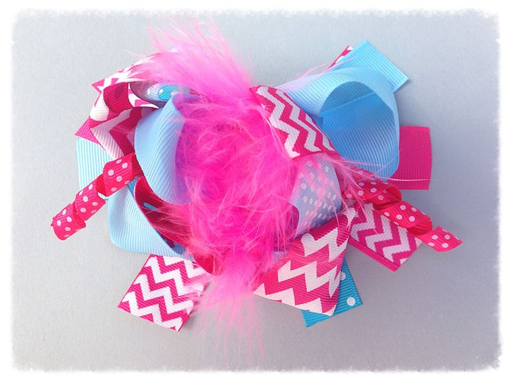 """6"""" Over The Top """"Cotton Candy"""" Boutique Bow"""