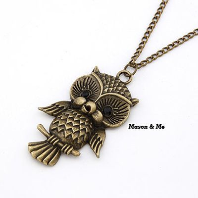 Korean Retro Fashion Lovely OWL Deign Pendant Sweater Chain General. Small and catchy. REPIN if you like it. Only 17 IDR