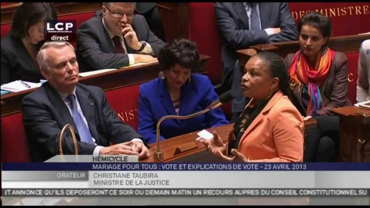 Discours de Christiane Taubira à l'Assemblée Nationale - Mariage Pour Tous