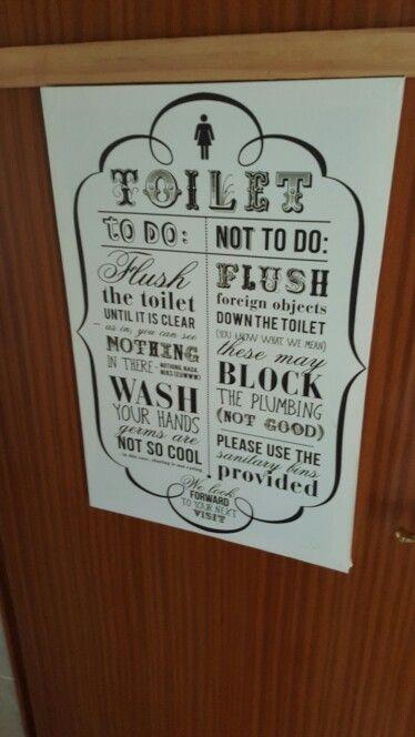 On the ladies' toilet door