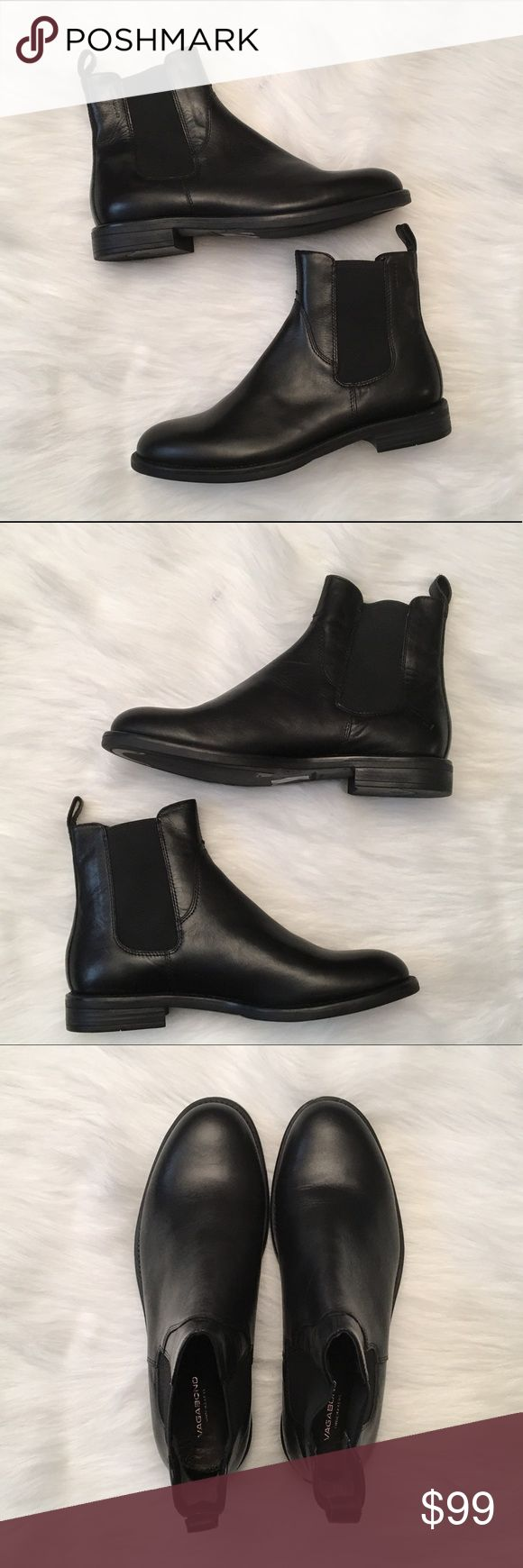 Vagabond Amina Ankle Chelsea Boot Size 39 US 8.5 Vagabond Amina Low Ankle Chelsea Boots. Size 39 (US Women's 8-8.5) Style code: 4203-801-20. In excellent condition. Soft leather uppers. Minor scuffs. No original box. Thanks for viewing! Comes from a pet free/smoke free home :) Vagabond Shoes Ankle Boots & Booties