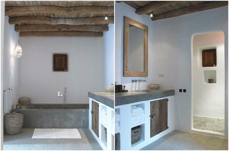 Средиземноморский стиль в интерьере ванной комнаты #interior #мебель #дизайн #интерьер #дом #уют #декор