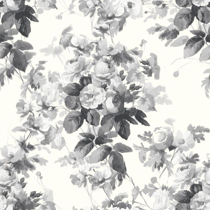 London Rose  Smoke Grey wallpaper by House Of Hackney