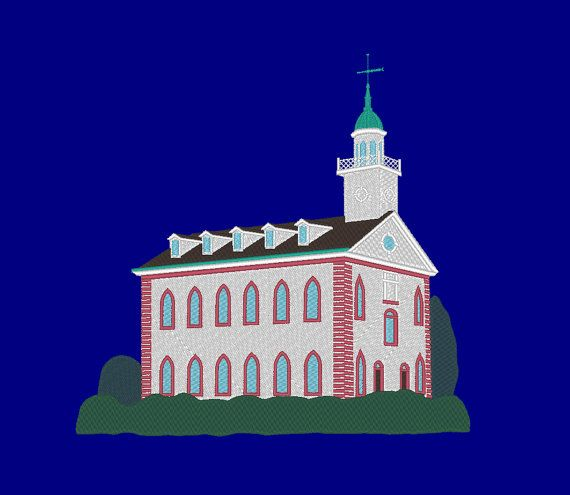 Kirtland Temple Embroidery Machine Design by OCDEmbroidery on Etsy