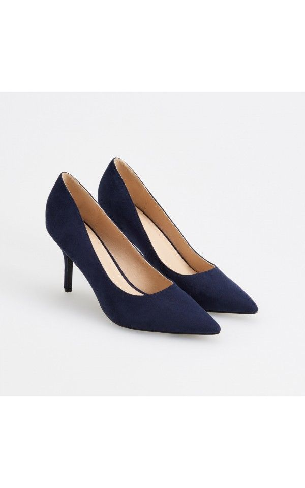 Туфли на шпильке, Back to office, темно-синий, RESERVED