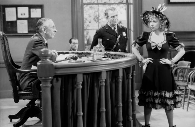 "Will Wright, Edgar Dearing, and Ann Sothern in ""Maisie Was a Lady."""