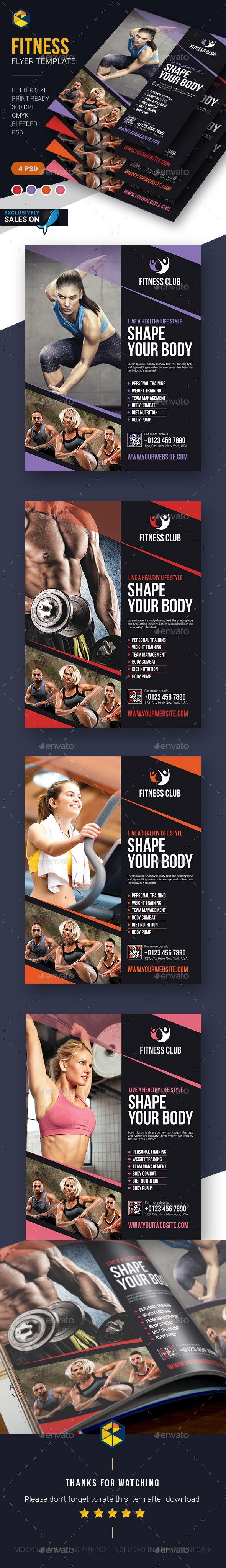 Fitness Flyer Template PSD #design Download: http://graphicriver.net/item/fitness-flyer-template/14327248?ref=ksioks