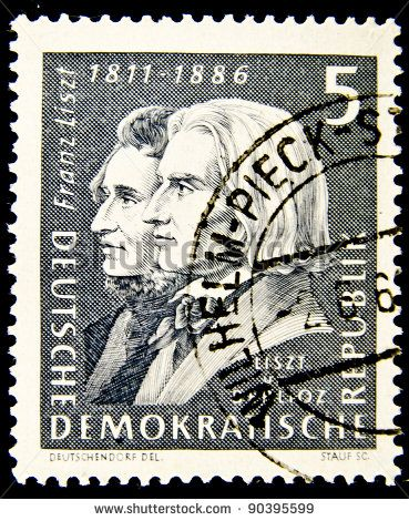 stock-photo-germany-circa-a-stamp-printed-in-germany-shows-image-of-franz-liszt-and-hector-berlioz-90395599.jpg (369×470)