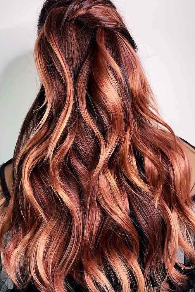 Rose Gold Highlighted Balayage For Brunettes #balayage #highlights #rosegoldhair ★ You have probably noticed that rose g…