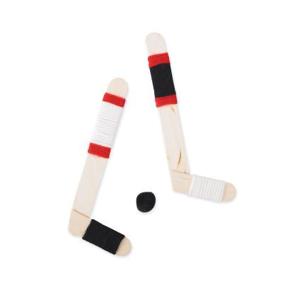 Kids Craft...how to make a Hockey Stick out of Popsicle sticks!