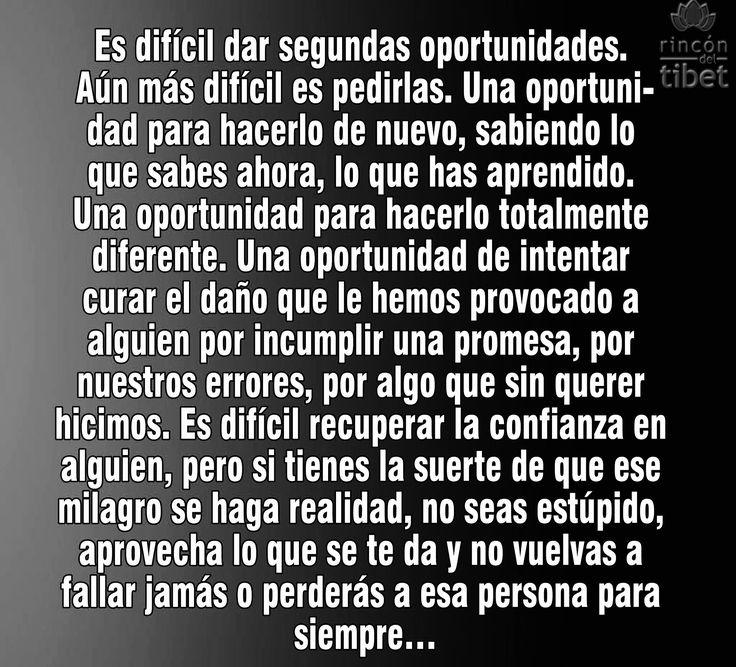 〽️ Es difícil dar segundas oportunidades...