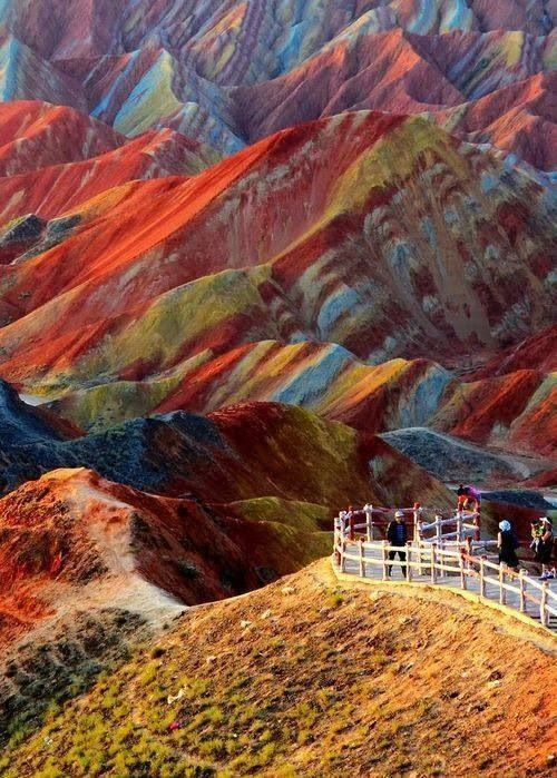 Zhangye Danxia Geographical Park, Dansu, China. Gorgeous.