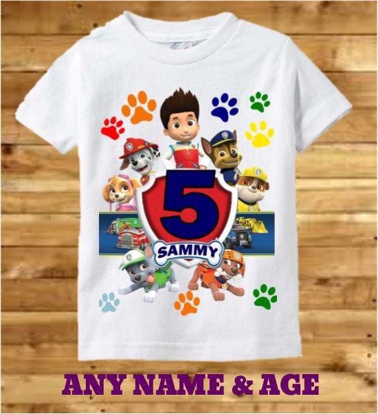 Paw Patrol Boys Birthday Shirt By PreciousCreations7 On Etsy