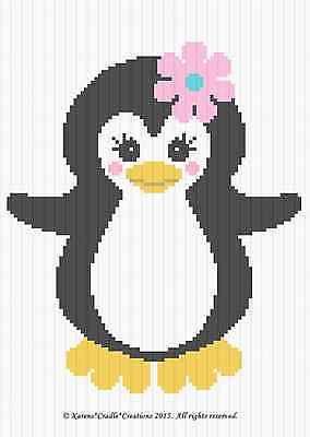 Os Padrões De Crochê-Bebê Pinguim Menina graph/chart afegão padrão * Fácil *