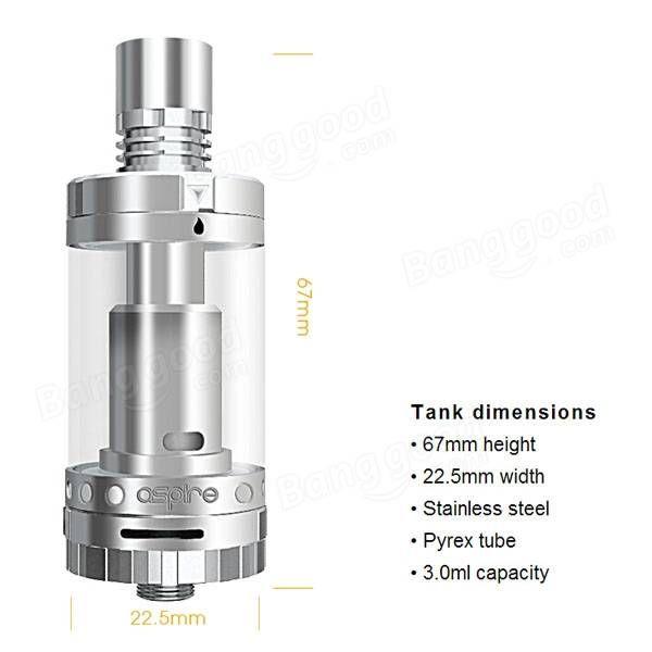 Genuine Aspire Triton 2 Adjustable Airflow Tank kit For Electronic Cigarette 3ml