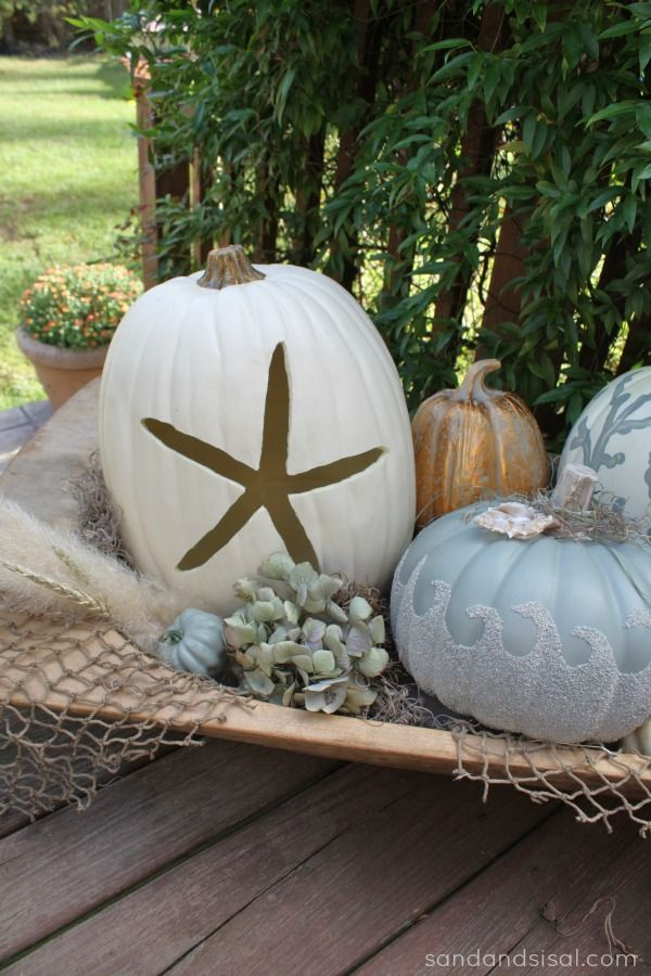 {coastal pumpkins} For when I spend Halloween on the beach!!