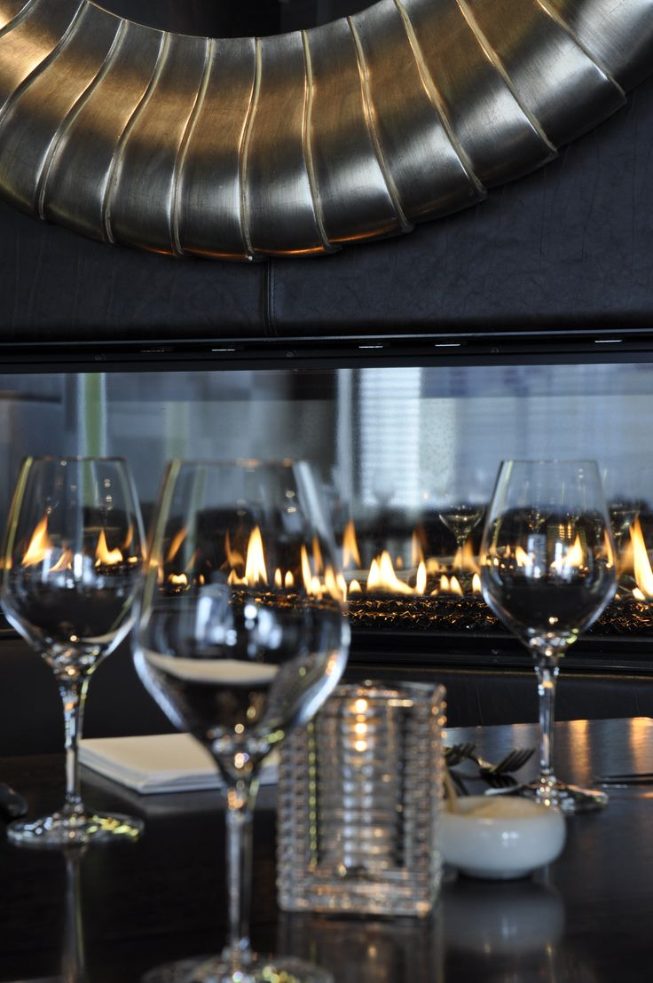 Saggio di Vino frameless DX1500 double sided, see-through fireplace…