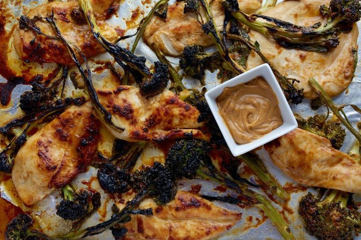 Quick Chicken and Baby Broccoli With Spicy Peanut Sauce - Delicious!! And super quick to make!! Paired well with flatbread. Would also be tasty with white rice.