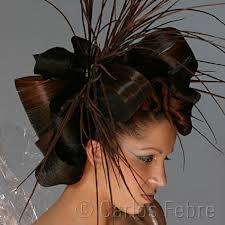 avant garde hair, folded, twist, spike. very very cool