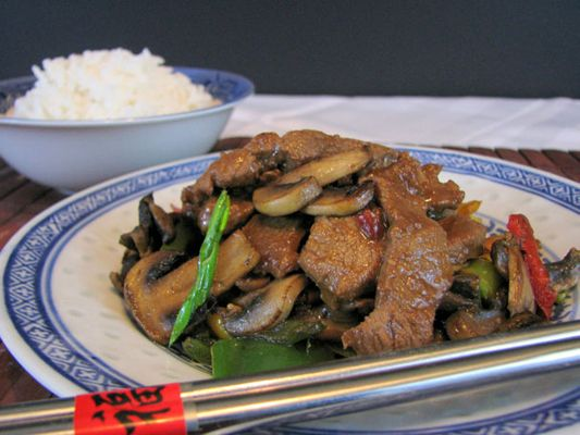 Pork and Mushroom Stir Fry Recipe