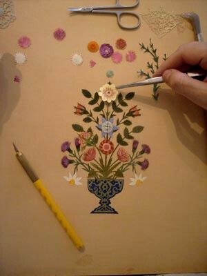 Kat'ı sanatı - turkish traditional paper art 'kat-ı'