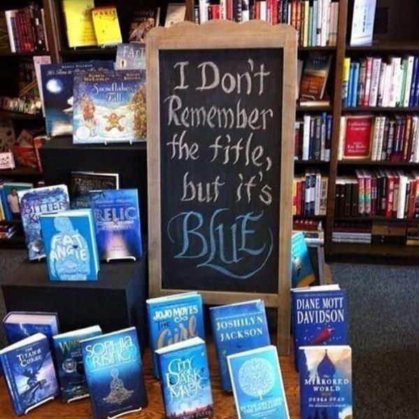 29 Moments Any Librarian Knows Too Well  (I don't remember the title, but it's blue...)