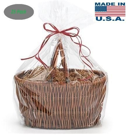 Basket Size 1.2 MIL BOPP Cellophane Gift Bags Bags for Gift Packing 30 | A1BakerySupplies