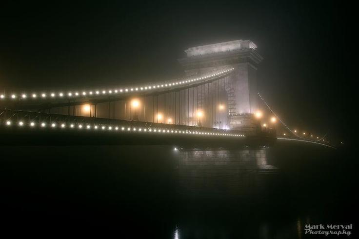 Budapest | Pearls in the Fog, Szechenyi Chain Bridge.  credit: Mark Mervai  #budapest #budapestchristmasmarket #budapestchristmasfair #travel