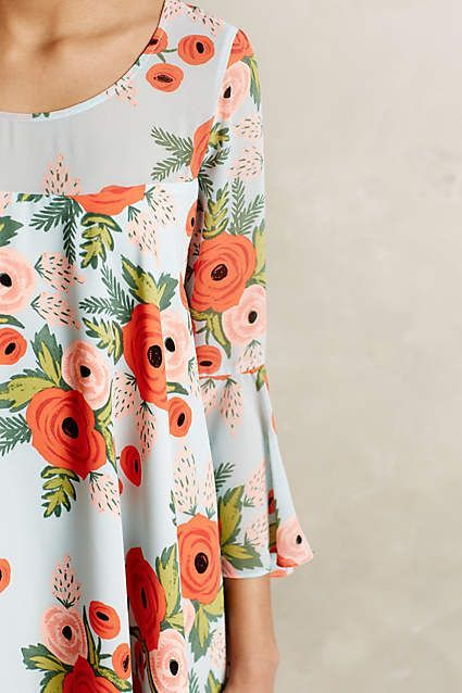 Fluttered Blooms Swing Dress - anthropologie.com #anthrofave #anthropologie