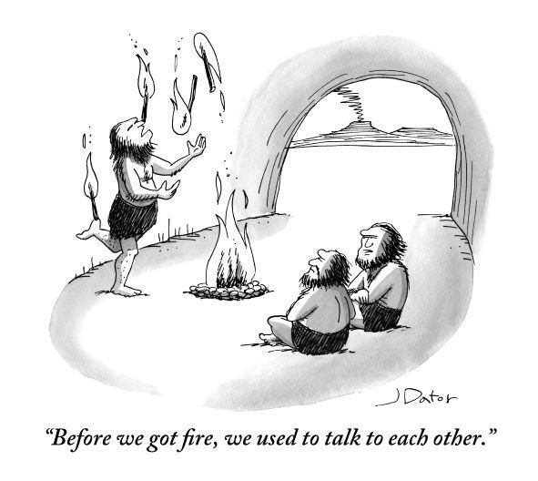 Before fire…Funny, Cartoons Posters, Yorker Cartoons, Comics, Fire, Belly Laugh, Talk