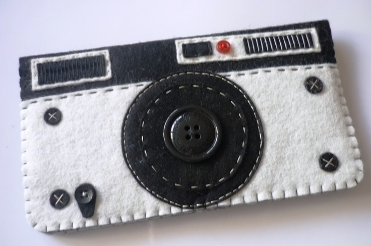 Porte-monnaie/ portefeuille vintage en feutrine