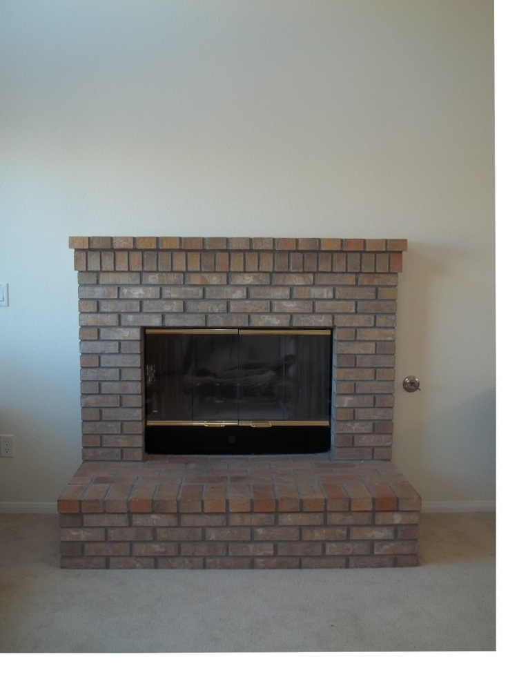 Raised Hearth Fireplace For The Home Pinterest
