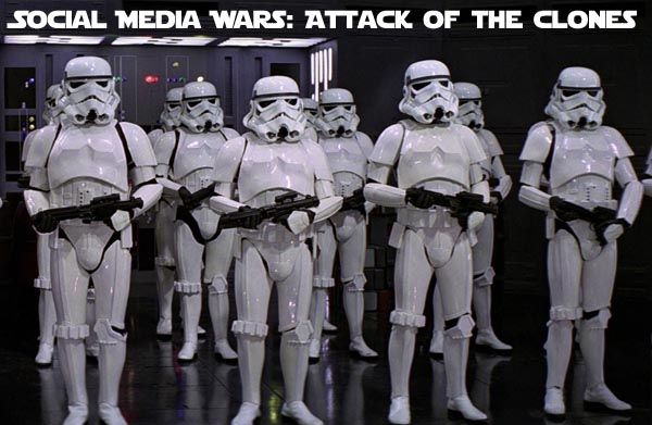 Social Media Wars: attack of the clones