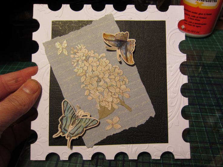 Loving the huge 8 x 8 stamp shape cards. Card By JuliAnn