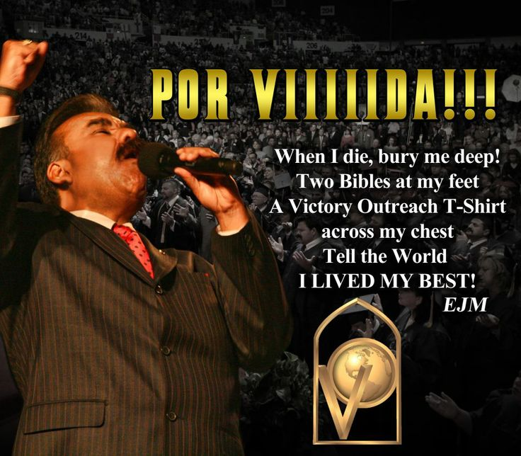 One of our greatest Elders of Victory Outreach! Pastor Ed Morales
