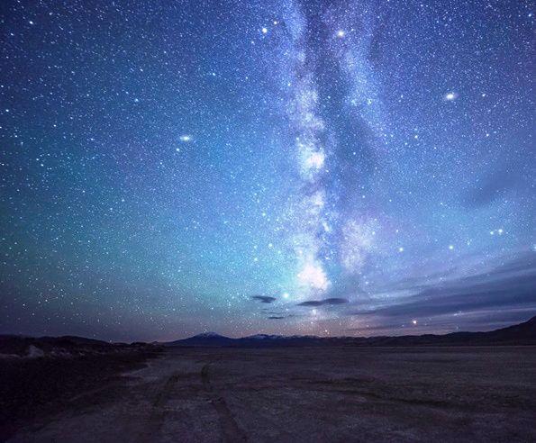 Camino a las estrellas, desierto de Oregon