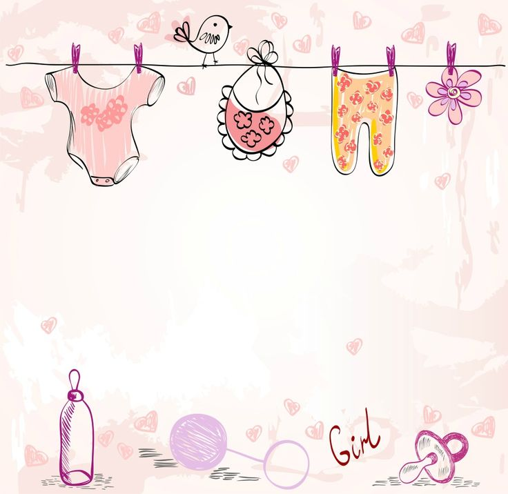 baby girl card colourful  clothes(1000×973)