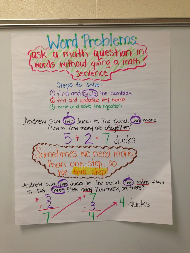 Word Problems One And Two