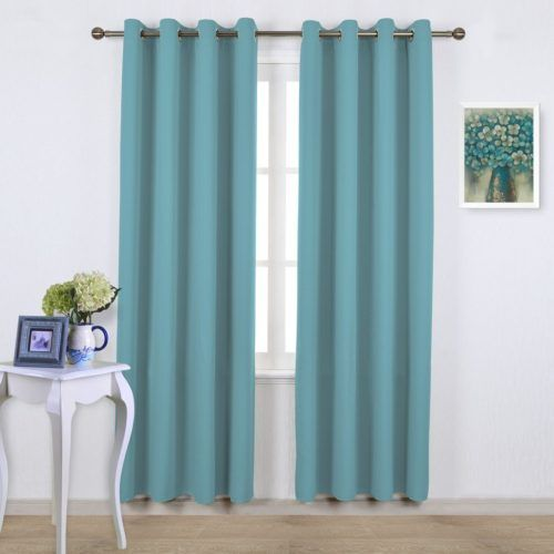 Turquoise Thermal Insulated Blackout Curtains 4_ www.pluscurtains.com pluscurtains@gamil.com whatsapp:+ 861506814867