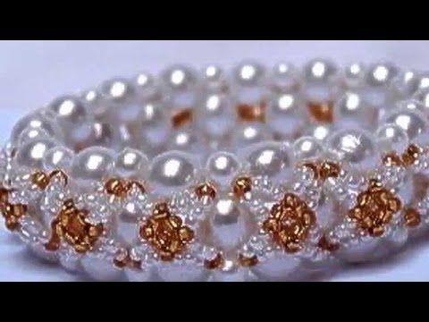 Beaded bracelet tutorial. Браслет из бисера «Весенние цветы»: подробный видео мастер-класс - YouTube