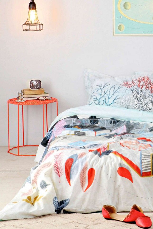 This bright nightstand is a must-have.