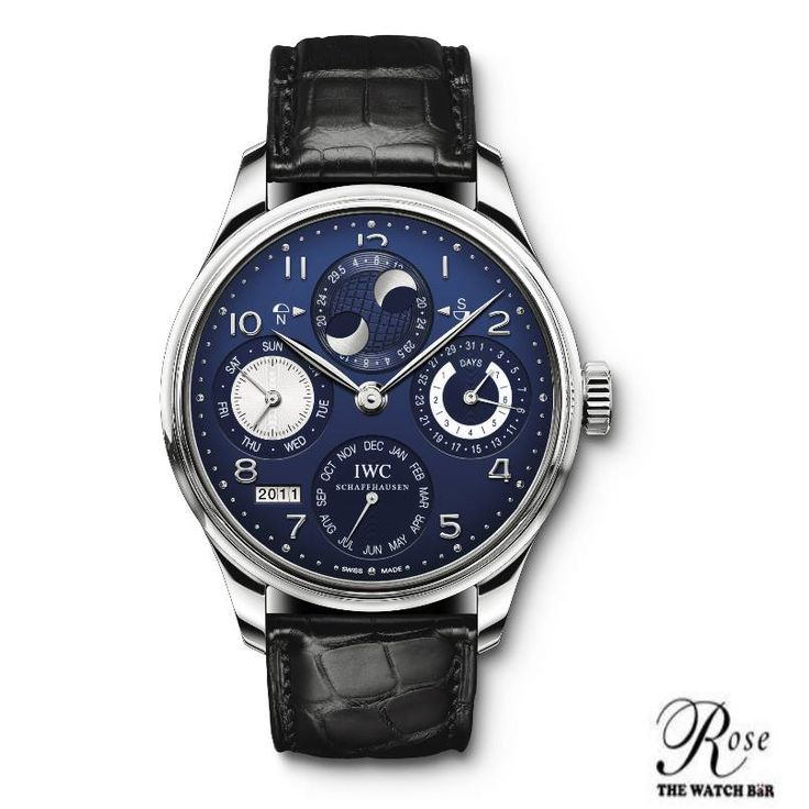 IWC's Portuguese Perpetual Calendar.  The moonphase on this watch is so accurate, it will not lose a full day for 577.5 years.  #RTWB #WatchOfTheWeek #IWC