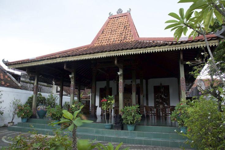 A house in Taman Sari neighborhood with Javanese  architecture in Yogyakarta