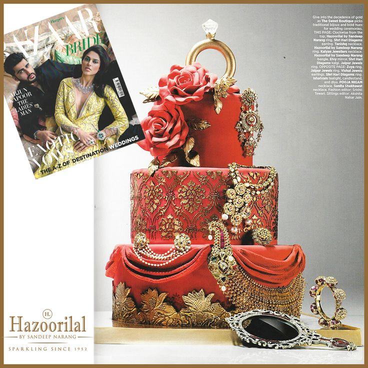 #HazoorilalBySandeepNarang features in @bazaarbridein  #HazoorilalPressRelease #Diamonds #Polki #Gold #Since1952 #ItcMaurya #DlfEmporio #GK-1 #HazoorilalJewellers #Hazoorilal