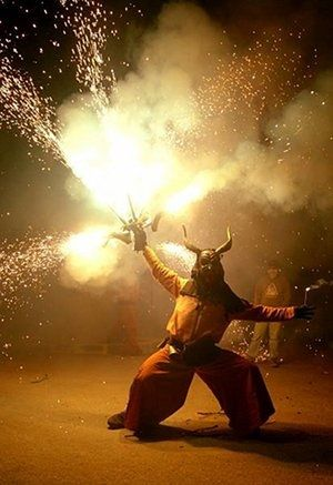 Mercè; Barcelona, Spain; September 24; Barcelona's major festival, lasting 1 week. With dancing, parades, concerts, and theater; features the Carrefoc (a fire-breathing dragon) and devils chasing victims through the streets.