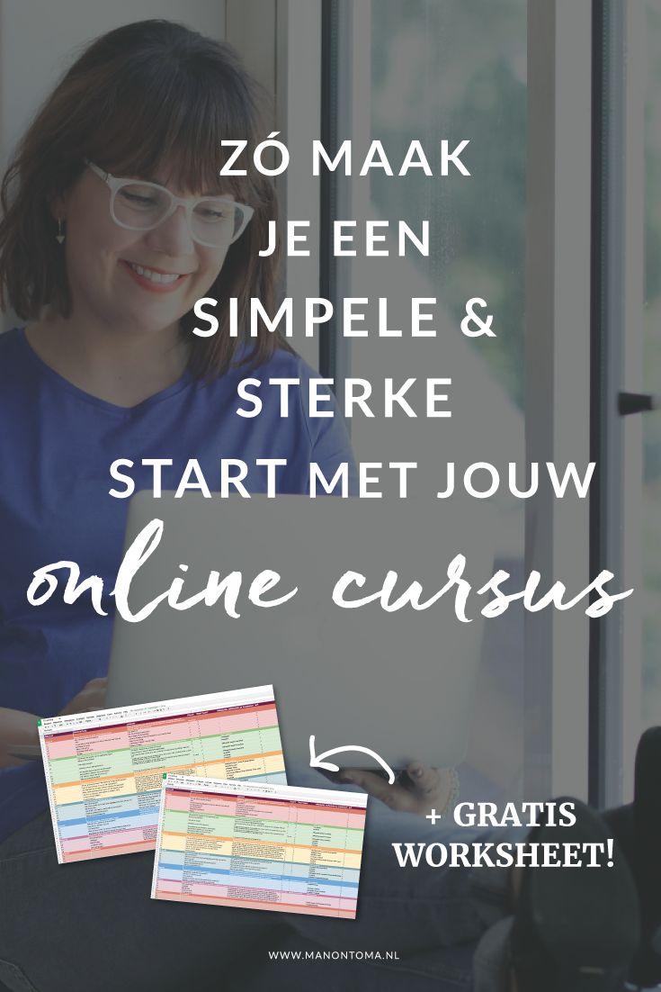 ♥︎Hoe maak je een #online #programma? Tips & tricks voor het maken van je eerste online #cursus in 5 stappen. Mijn persoonlijke #stappenplan + gratis #worksheet voor het maken van een #onlineprogramma. >>Bewaar mij (pinnen maar!)