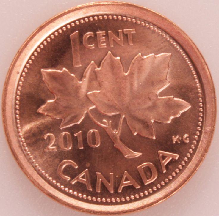 1 Cent #Canada - 2003-2012 Foglie di acero pianta diventata simbolo sulla bandiera.