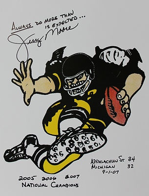 Jerry Moore Appalachian State Football Hand Signed Print | eBay